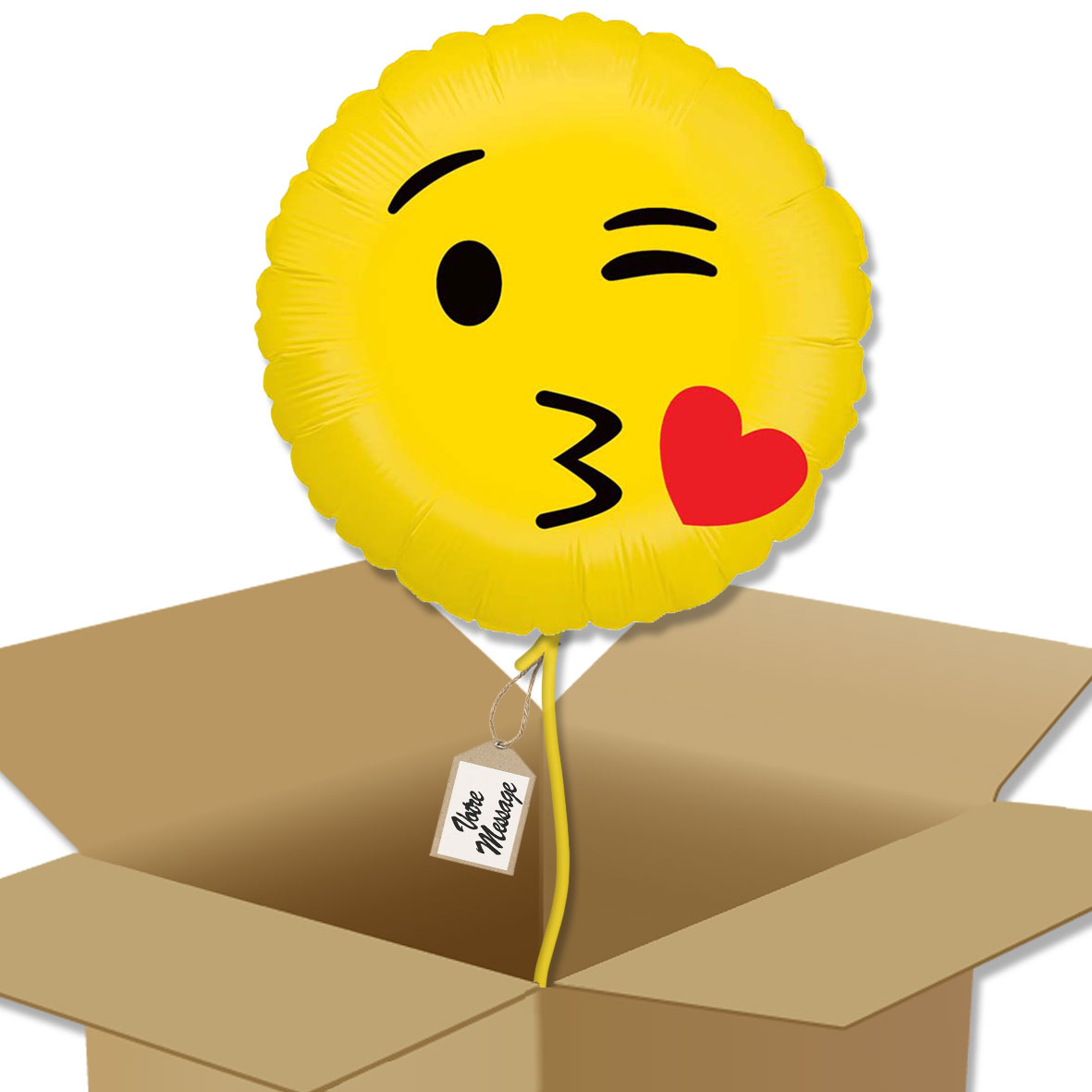 Ballon Rond Emoji Bisou Bouquet De Ballons