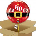 """Ballon de noël """"ho ho ho"""" dans sa boîte."""