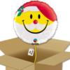 Ballon emoji Père noël dans sa boîte.