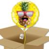 Ballon Mr cool Ananas dans sa boîte