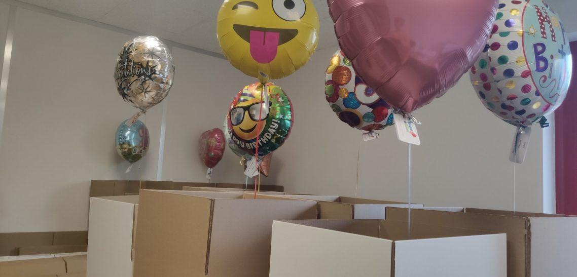 Envoi de ballons et coronavirus