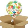 Bouquet de Ballons très coloré animaux du jardin pour un anniversaire enfant dans sa boite