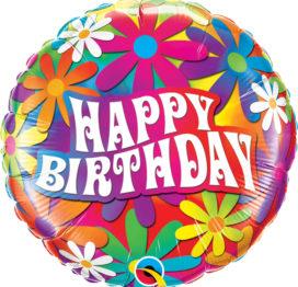 Bouquet de Ballons très coloré et fleuri pour un anniversaire