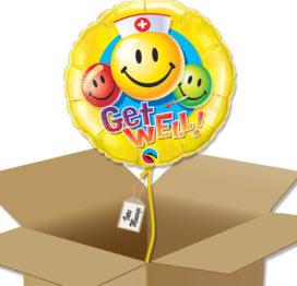 Bouquet de Ballons pour un bon rétablissement dans sa boite