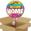 Ballon rond Welcome HOME à envoyer dans sa boite cadeau