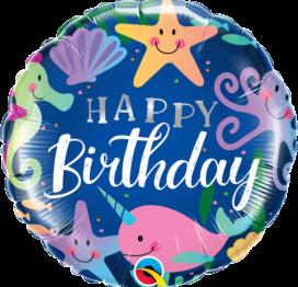 Bouquet de Ballons très coloré personnage de la mer pour un anniversaire enfant