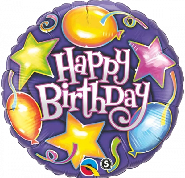 Bouquet de Ballons très coloré étoiles et ballons pour un anniversaire enfant