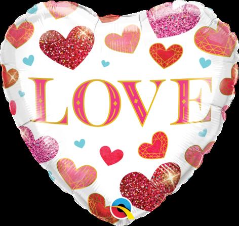 Ballon coeur LOVE à envoyer