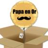 Ballon bonne fête des papa en or à offrir dans sa boite