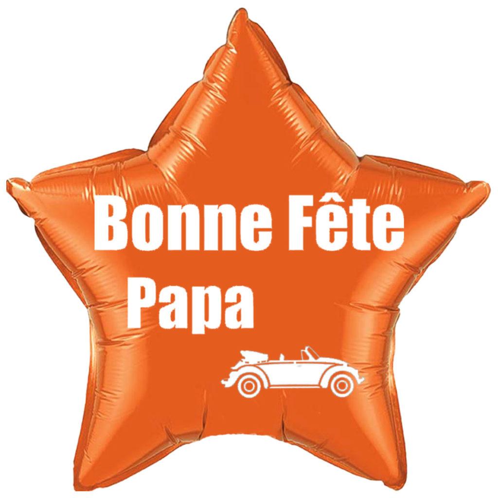 Ballon bonne fête des papa avec voiture à offrir