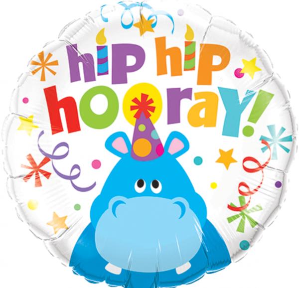 Ballon anniversaire enfant hippopotame.