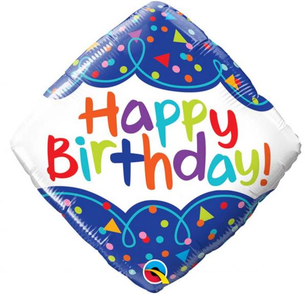 Ballon anniversaire multicolore.
