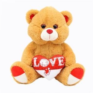 Puzzle coeur ours en peluche 20 cm