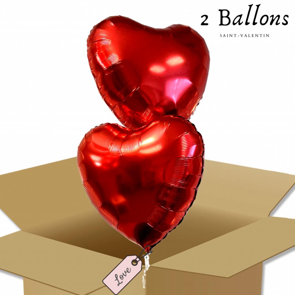 Bouquet de Ballons - Ballon Coeur rouge à offrir