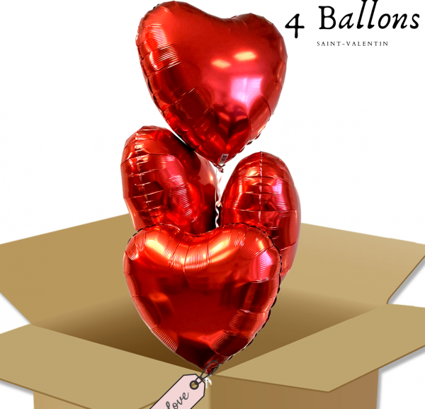 Bouquet de Ballons - Ballon Cœur rouge à offrir
